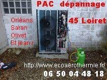 Pompe à chaleur dépannage 45 Loiret, aglo Orléans, Saran, Olivet ...